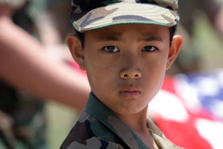 A member of the MCAS Miramar Young Marines chapter.