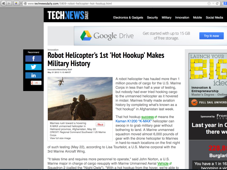 """Hot Hookup"" story featured on TechNews Daily."