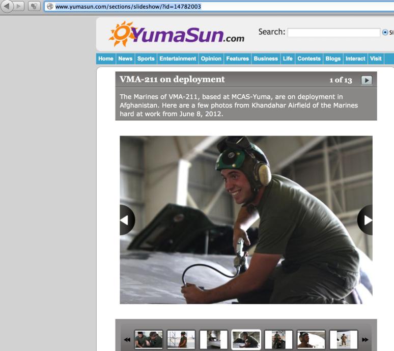 Photos featured in the Yuma Sun.
