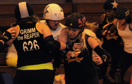 The Devil Dog Derby Dames All Stars scrimmage Dec. 29 at Torii Station.